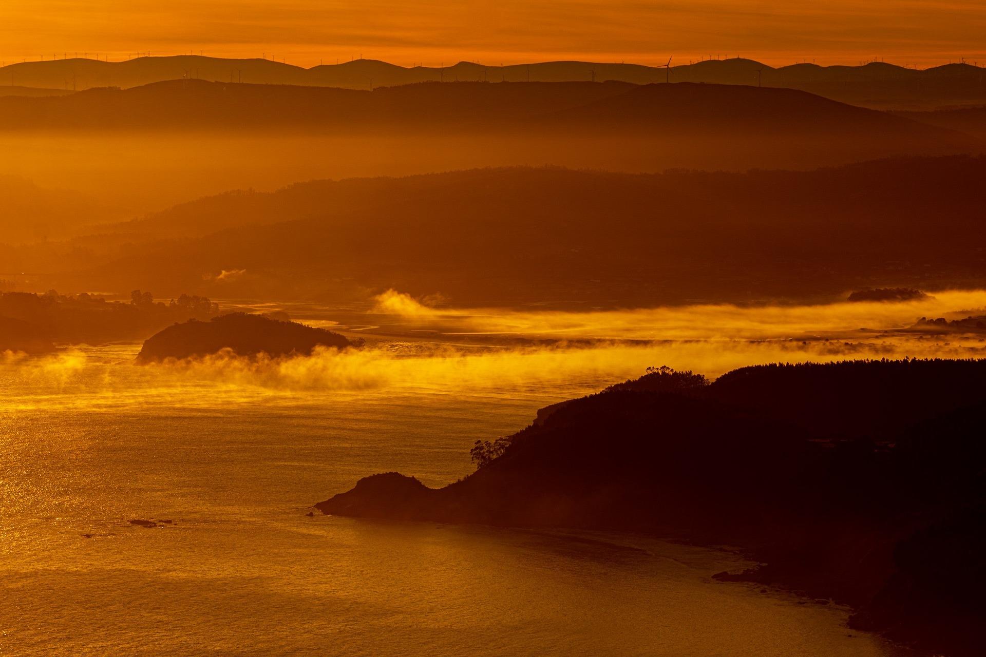 Ría de Ortigueira desde o mirador do Limo