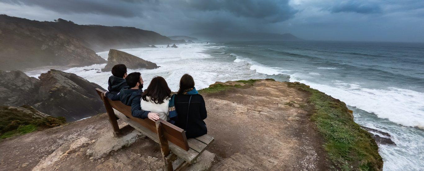 Foto de arquivo do litoral de Loiba, un dos recursos destacados do proxecto